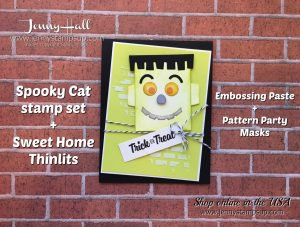 Punch Art Halloween card by Jenny Hall at www.jennyhalldesign.com for cardmaking, stamping, video tutorials, papercrafts, scrapbooking and more!