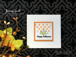 Clean and Simple Halloween card by Jenny Hall at www.jennyhalldesign.com for cardmaking, video tutorials, papercrafts, scrapbooking and more!