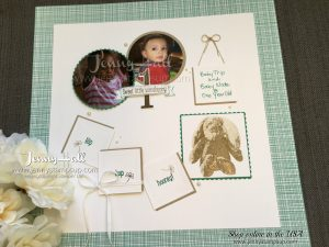 Sweet Little Something scrapbook page by Jenny Hall featured at OnStage 2017 find me at www.jennyhalldesign.com for cardmaking, scrapbooking, video tutorials, papercraft gift giving and more!