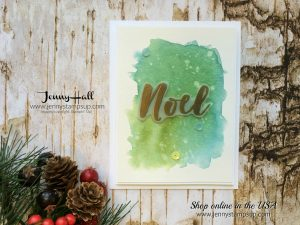 Watercolor Wash tutorial by Jenny Hall at www.jennyhalldesign.com for cardmaking, scrapbooking, video tutorials and more!
