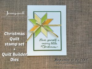 Christmas Quilt card by Jenny Hall at www.jennyhalldesign.com for cardmaking, video tutorials, scrapbooking and more!