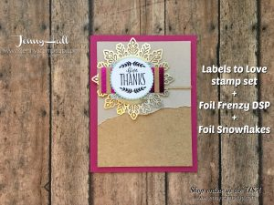 Labels To Love card by Jenny Hall at www.jennyhalldesign.com for cardmaking, scrapbooking, papercraft gifts, video tutorials and more!