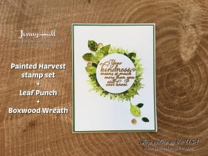 Painted Harvest stamp set card by Jenny Hall at www.jennyhalldesign.com for cardmaking, scrapbooking, papercraft gift giving, video tutorials and more!
