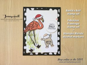 Santa's Suit card by Jenny Hall at www.jennyhalldesign.com for cardmaking, scrapbooking, video tutorials, online classes and more!