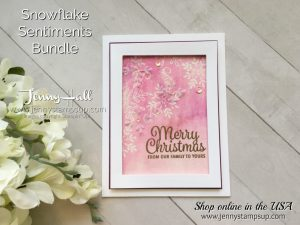 Guest Designer for InKing Royalty with Emboss Resist technique with Video by Jenny Hall at www.jennyhalldesign.com for cardmaking, scrapbooking, video tutorials, papercraft gift giving and more!