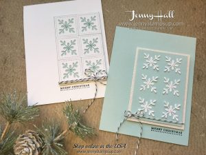Swirly Snowflakes 2 for 1 cards by Jenny Hall at www.jennyhalldesign.com for cardmaking, scrapbooking, video tutorials and more!