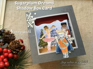 Sugarplum Dreams Shadow Box card by Jenny Hall at www.jennyhalldesign.com for cardmaking, scrapbooking, video tutorials and more!
