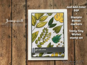Stampin Blends card for Ink & Inspiration Blog Hop card by Jenny Hall at www.jennyhalldesign.com for cardmaking, online classes, scrapbooking, video tutorials and more!