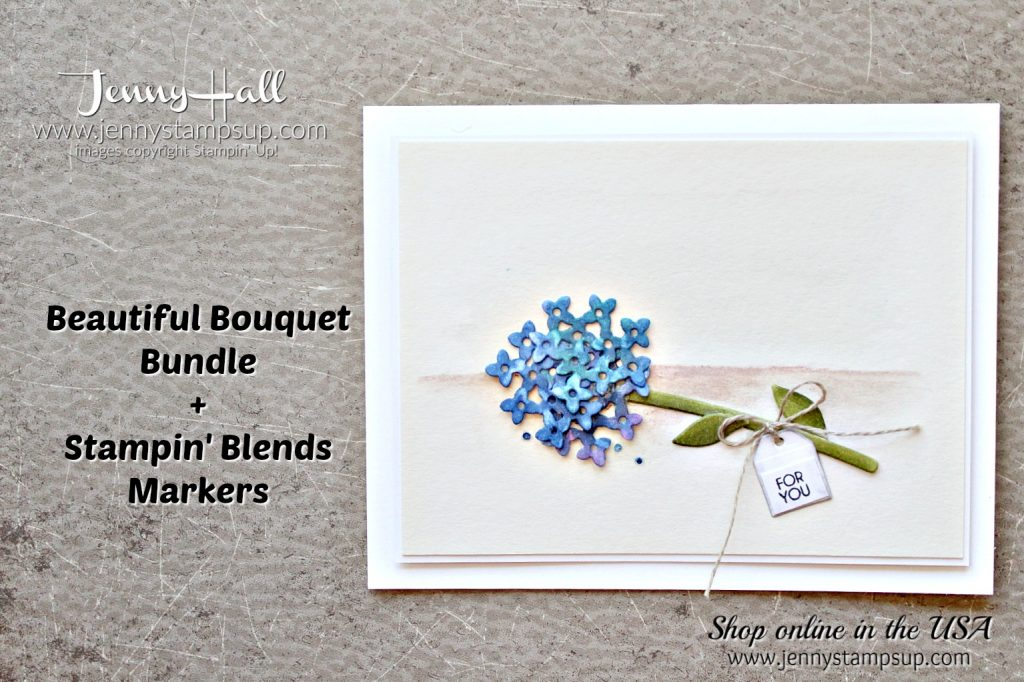 Beautiful Bouquet clean and simple card by Jenny Hall at www.jennyhalldesign.com for #cardmaking #stampinup #scrapbooking #watercolor #cardmakingtechniques #jennystampsup #jennyhalldesign #jennyhallstampinup #cardmakingchallenge #beautifulbouquet and more!