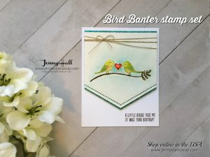 Bird Banter no line watercolor card by Jenny Hall at www.jennyhalldesign.com for cardmaking, video tutorials, scrapbooking and more!