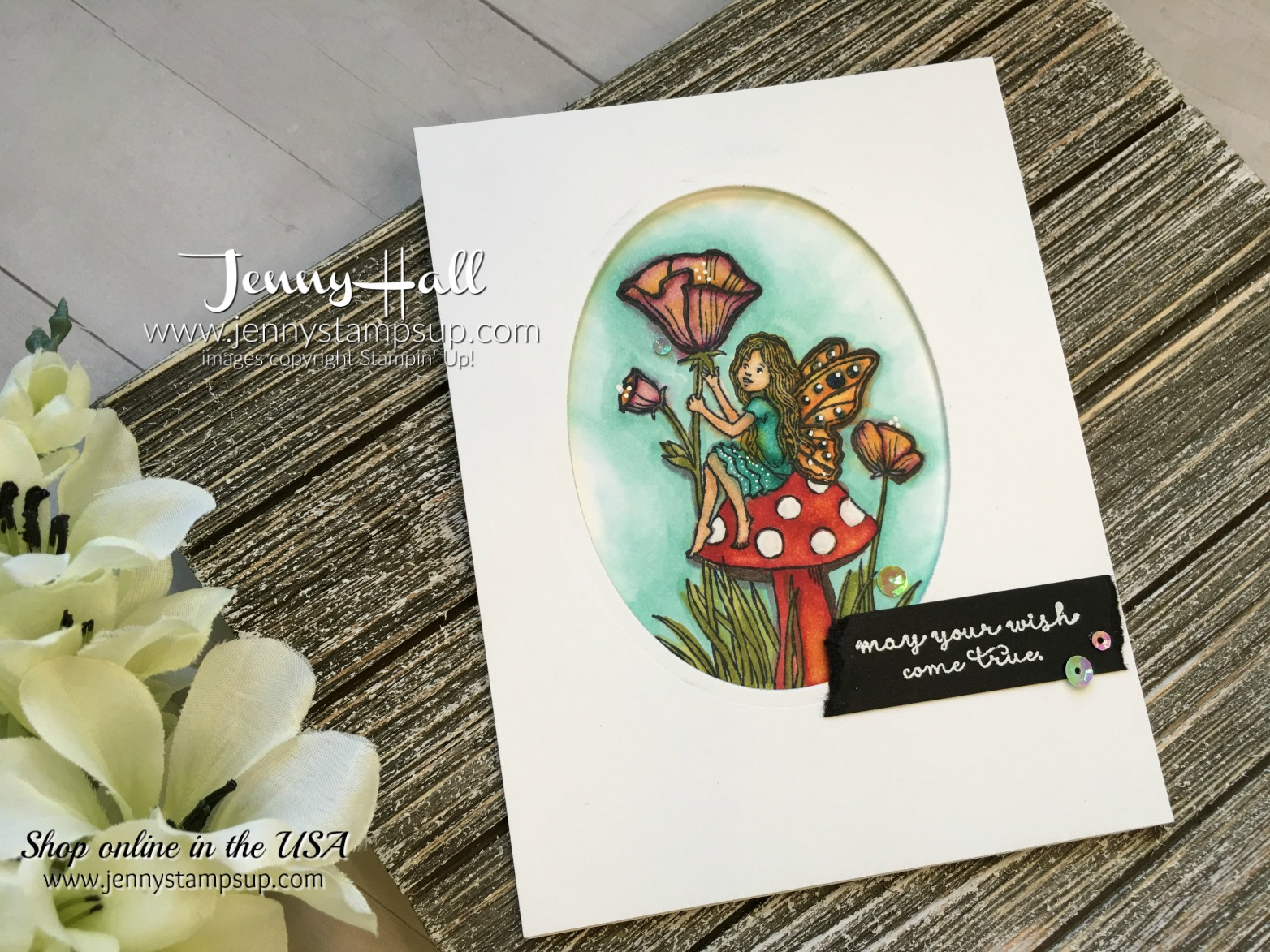 Fairy Celebration card by Jenny Hall at www.jennyhalldesign.com for cardmaking, video tutorials, scrapbooking and more!