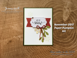 November 2017 Paper Pumpkin alternative card by Jenny Hall at www.jennyhalldesign.com for cardmaking, scrapbooking, video tutorials and more!