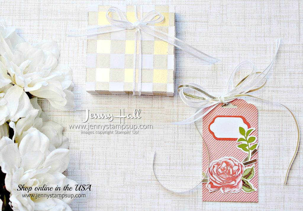 DIY Gift Box and Tag using #stampinup products with Jenny Hall at www.jennyhalldesign.com for #cardmaking #scrapbooking, #giftpackaging #petalgarden #memoriesandmore #jennystampsup #jennyhalldesign #jennyhallstampinup #cardmaking #papercrafts