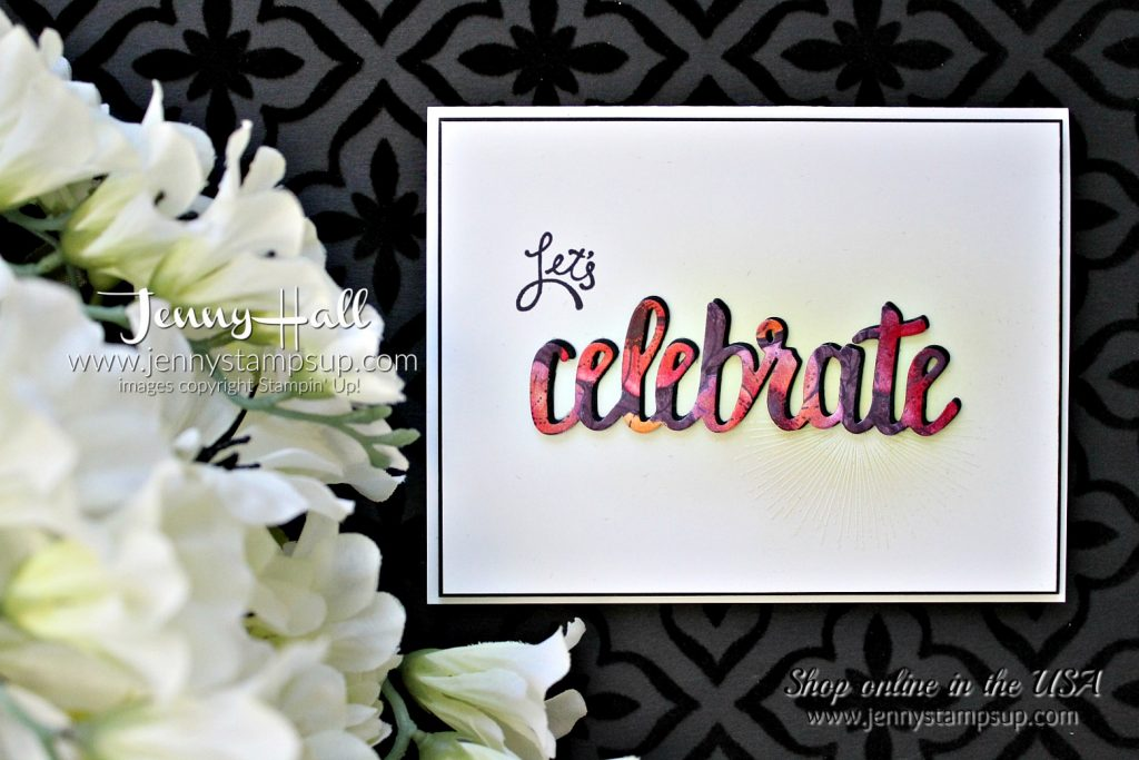 Be Inspired Blog Hop card by Jenny Hall at www.jennyhalldesign.com for #stampinup #cardmaking #videotutorials #jennystampsup #jennyhalldesign #jennyhallstampinup #scrapbooking #amazingyoustamp #celebrateyouthinlits #cascards #cleanandsimplecards and more!