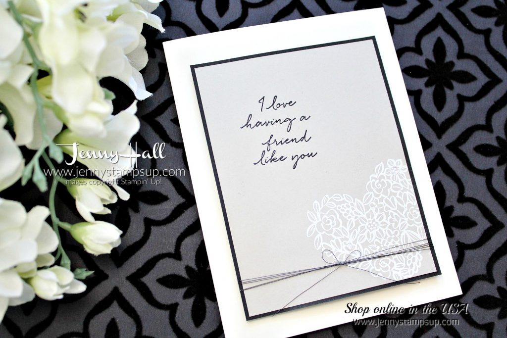 Happy Wishes Friendship card with Video by Jenny Hall at www.jennyhalldesign.com for #cardmaking #stampinup #hearthappiness #happywishesstampset #cardmakingvideo #stamping #jennystampsup #jennyhallstampinup #jennyhalldesign #2018saleabration #scrapbooking and more!