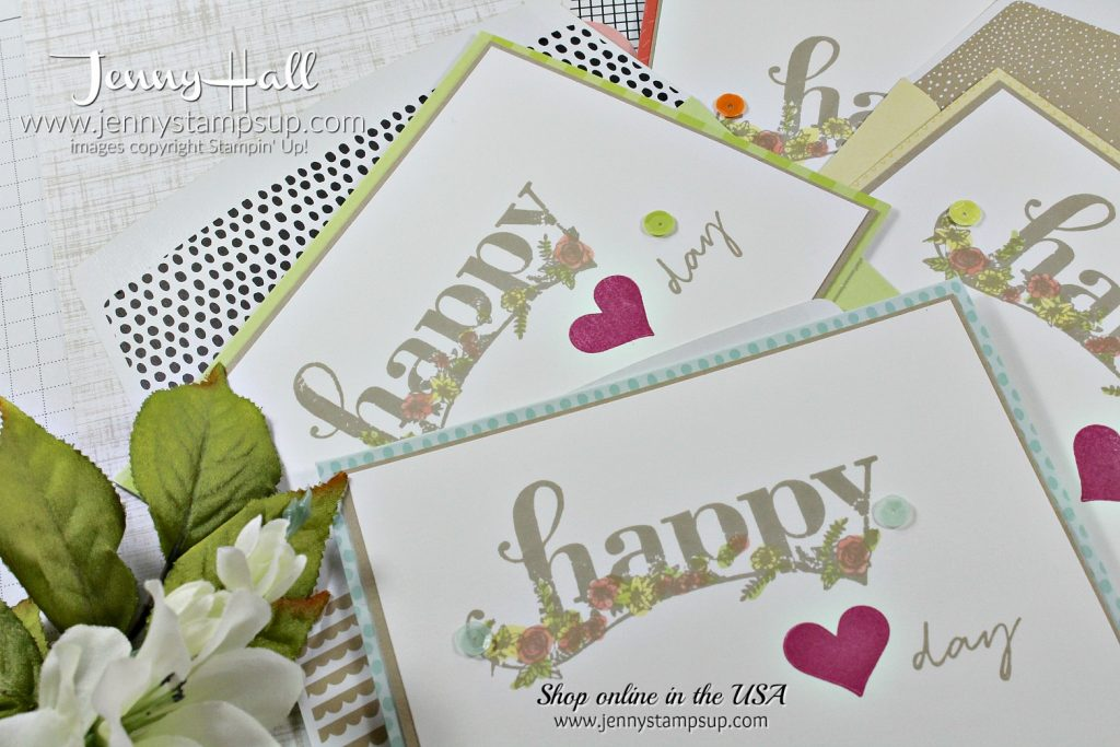 January Random Acts of Kindness blog hop cards by Jenny Hall at www.jennyhalldesign.com for #cardmaking #stampinup #happywishes #saleabration #jennyhalldesign #jennystampsup #jennyhallstampinup #videotutorials