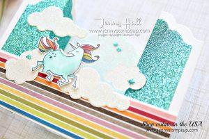 Magical Day unicorn bridge fold card by Jenny Hall for AddINKtive Desins Team at www.jennyhalldesign.com for #cardmaking #videotutorials #stampinblends #bridgefoldcard #scrapbooking #fancyfoldcards #cardmakingdesign #jennystampsup #jennyhallstampinup #jennyhalldesign #stampinup #tween #unicorn #unicornstamp #magicaldaystampset #mythsandmagic and more!