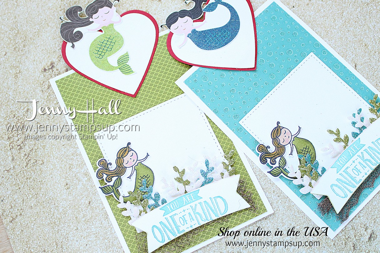 January Stampin Friends Blog Hop card and bag featuring Magical Day stamp set from the Myths & Magic Suite by Stampin' Up! created by Jenny Hall at www.jennyhalldesign.com for #cardmaking #papercraft #handmade #giftbag #jennyhalldesign #jennyhallstampinup #jennystampsup #mermaid #mermaidhair #mermaidtheme #mythsandmagic #magicaldaystampset #stampinblends #bloghop #cardmakingbloghop #sfbh #stampinfriendsbloghop