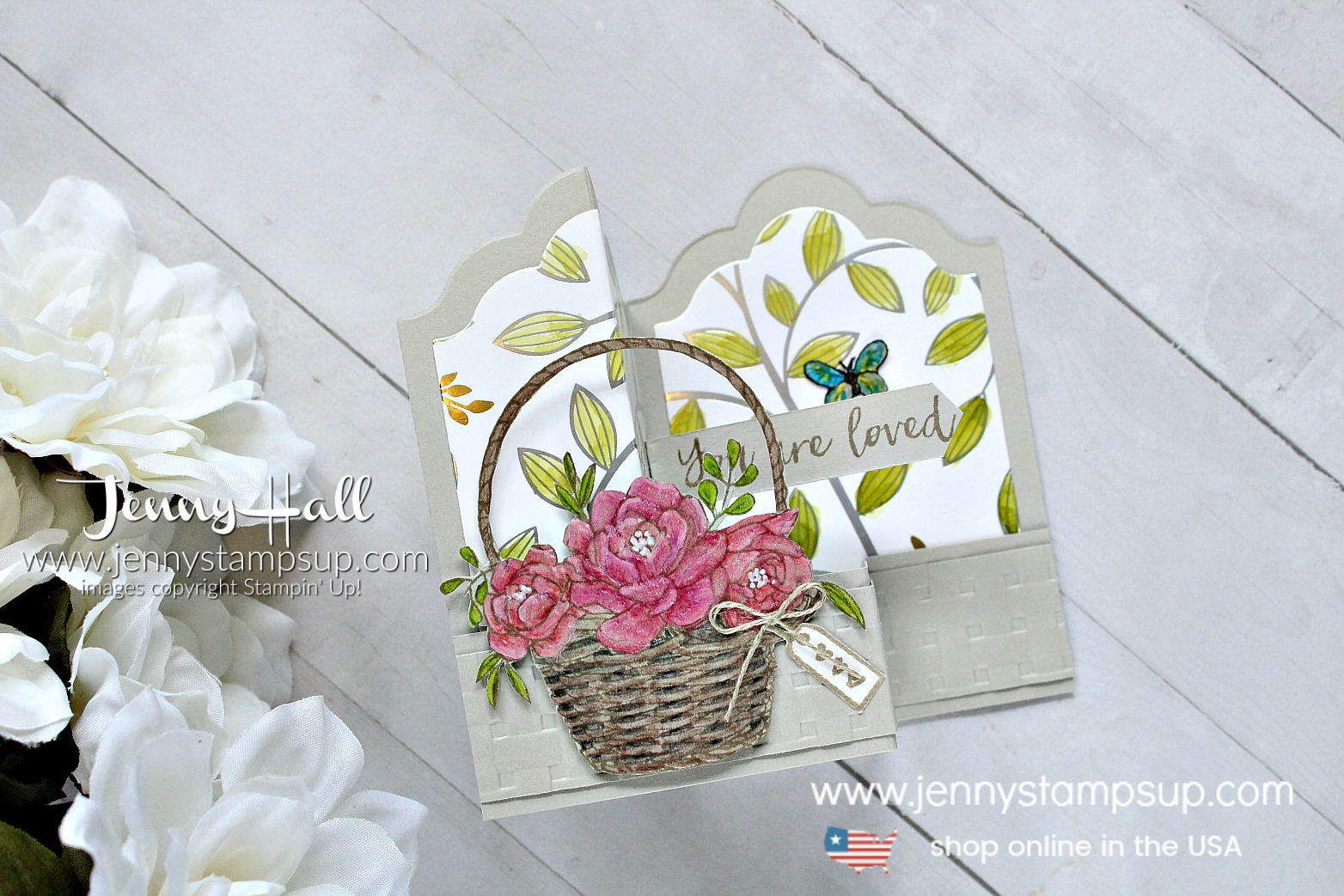 Blossoming Basket Double Z Fold Box Card created by Jenny Hall at www.jennyhalldesign.com for #cardmaking #addinktivedesigns #addinktivedesignteam #doublezfold #boxcard #lotsoflabelsdoublezfoldboxcard #jennystampsup #jennyhalldesigns #jennyhallstampinup #fancyfoldcard #blossomingbasket #Basketweaveembossingfolder #watercolorpencils #addinktive #springtimefoildsp #stampinblends #stamping #Coloredpencils #watercolor #blenderpen