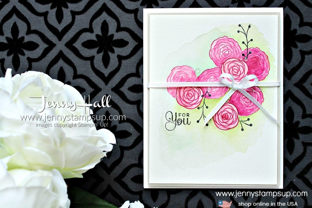 How to mask an image by Jenny Hall at www.jennyhalldesign.com for #cardmaking #stampinup #videotutorial #youtuber #craftyyoutuber #maskingtechnique #jennyhalldesign #jennystampsup #jennyhall #jennyhallstampinup #onelayercard #cakesoiree #cardmakingtechnique #watercolorpainting #watercolor #diy #crafts #cascards #kidfriendlycraft