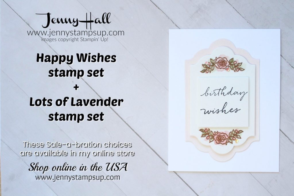 Messy Watercolor card created by Jenny Hall at www.jennyhalldesign.com for #cardmaking #happywishes #lotsoflavender #stamping #videotutorial #youtuber #craftyyoutuber #watercoloring #messywatercolor #jennyhalldesign #jennyhall #jennyhallstampinup #jennystampsup #messywatercolor #cardmakingtechnique #crafts #papercraft #greetingcard #creativelife #lifestyle