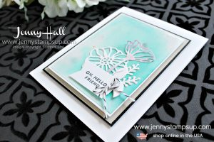 Team projects and Techniques with Glossy White Paper card created by Jenny Hall at www.jennyhalldesign.com for #cardmaking #stampinup #stamping #cardmakingtechnique #cardmakingdesign #cascards #cleanandsimplecards #youtuber #stampinupteam #artofimagination #jennyhalldesign #jennystampsup #jennyhallstampinup #papercrafts #diecuts #handmadecard #crafts #creativelife