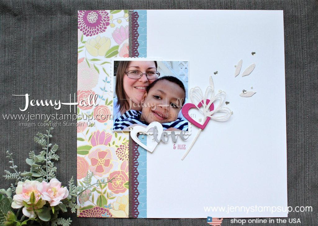 February Scrapbook Sunday Blog Hop page with #sweetsoireedsp created by Jenny Hall at www.jennyhalldesign.com for #scrapbooking #lovetheme #jennystampsup #jennyhalldesign #jennyhallstampinup #stamping #youtuber #casdesign #cleanandsimple #creativelife #lifestyleblog #crafts #artsandcrafts #diy #kidfriendlycraft