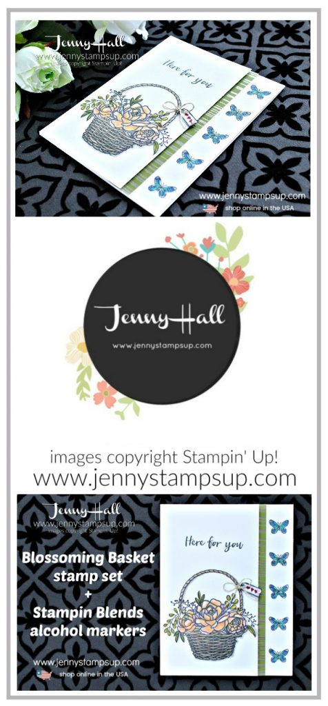 Blossoming Basket with the Stamparatus card created by Jenny Hall at www.jennyhalldesign.com for #cardmaking #stamparatus #stampinblends #stampinup #stamping #videotutorial #jennyhall #jennyhalldesign #jennyhallstampinup #jennystampsup #crafts #lifestyle #coloring cardmakingvideo #youtuber