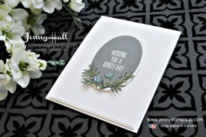 March Be Inspired Blog Hop card featuring Lovely Wishes stamp set created by Jenny Hall at www.jennyhalldesign.com for #cardmaking #stamping #cascards #artnouveau #artdeco #beinspired #beinspiredbloghop #handmadecard #jennyhall #jennyhalldesign #jennystampsup #jennyhallstampinup #lifestyle #youtuber