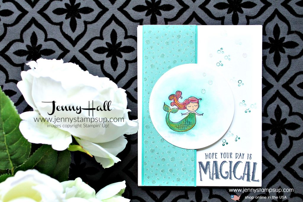 March OSAT Blog Hop Magical Day mermaid card created by Jenny Hall at www.jennyhalldesign.com for #mermaid #mermaidhair #mermaidstamp #osatbh #osatbloghop #marchosatbloghop #magicalday #stampinup #stamping #cardmaking #cardmaker #stampinblends #videotutorial #youtuber #processvideo #magical #jennyhall #jennyhalldesign #jennyhallstampinup #jennystampsup #watercolor #crafts #lifestyle #creativelife #diy