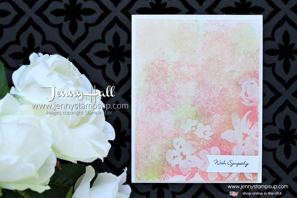 New Product Artisan Textures stamp set card created by Jenny Hall at www.jennyhalldesign.com for #cardmaking #stamping #stampinup #rubberstamp #teenytinywishes #artisantextures #gardentheme #jennyhall #jennyhalldesign #jennystampsup #newproduct #newsucatalog #2018annualcatalog #sympathycard #crafts #lifestyle #youtuber #kidfriendlycraft