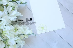 April Ink & Inspiration Blog Hop card created by Jenny Hall at www.jennyhalldesign.com for #cardmaking #climbingorchid #orchidstamp #stampinup #jennyhall #jennyhalldesign #jennystampsup #videotutorial #youtuber #stamping #orchidcard #cascards #cleanandsimplecards