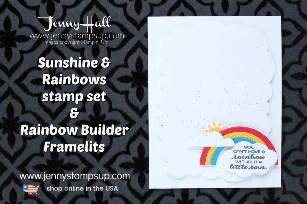 Autism Matters Blog Hop card created by Jenny Hall at www.jennyhalldesign.com for #cardmaking #autismmatters #stampinforautism #sunshine&rainbowsbundle #jennyhall #jennyhalldesign #jennystampsup #jennyhallstampinup #autismsupport #stamping #stampinup #bloghop #autismfacts