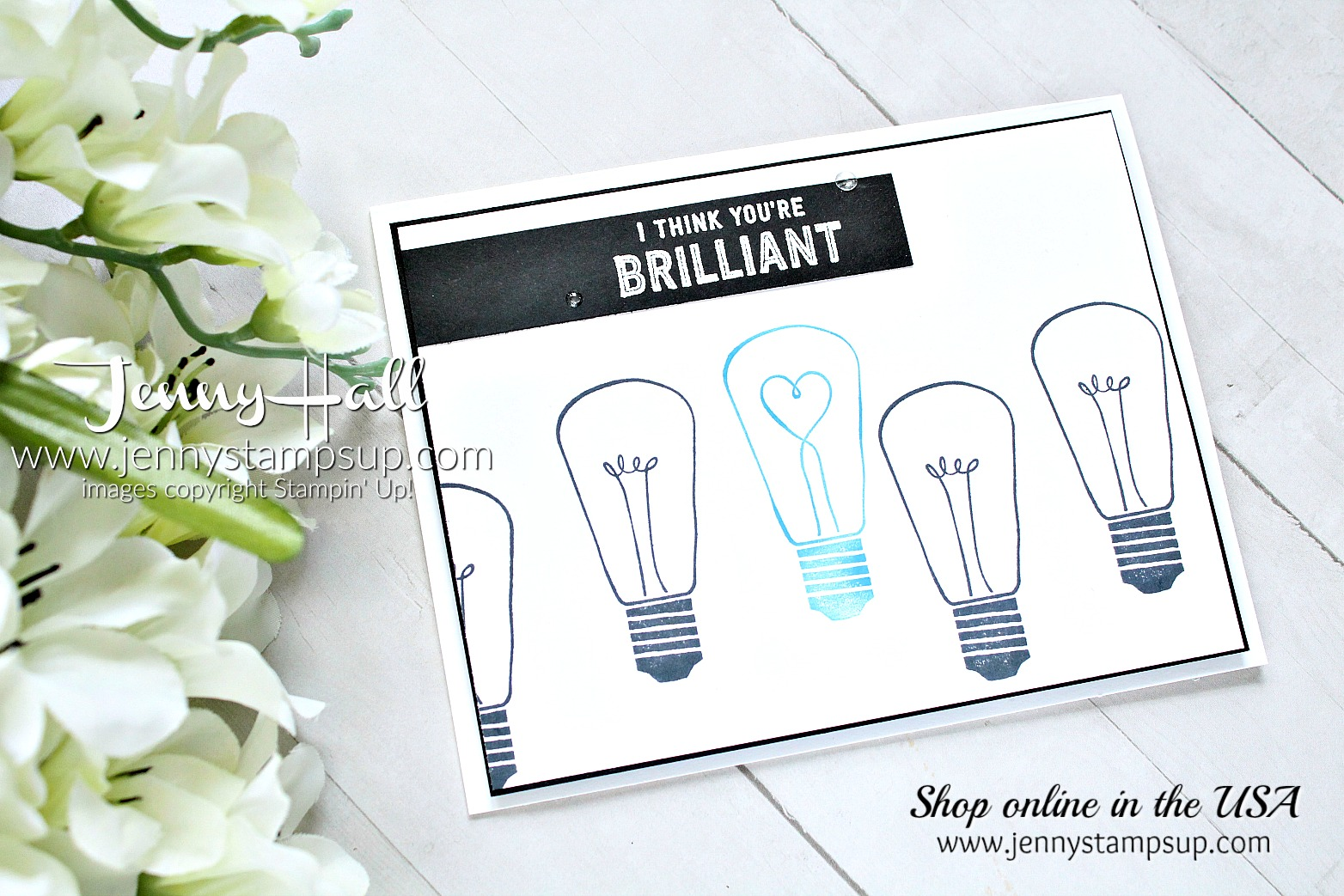 Autism Awareness Blog Hop card created by Jenny Hall at www.jennyhalldesign.com for #cardmaking #stamping #stampinup #autismawarenessbloghop #autismmatters #autismawareness #jennyhall #jennyhalldeisgn #jennystampsup #wattsofoccasions #easystamping #lightitupblue
