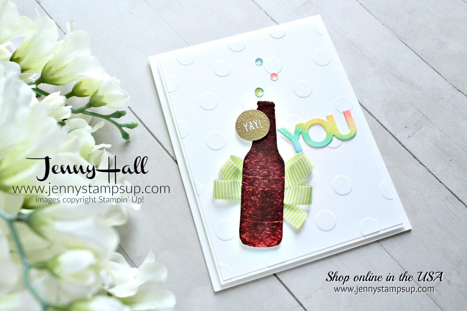 Bubble Over soda pop card created by Jenny Hall at www.jennyhalldesign.com for #cardmaking #cascards #bubbleover #watercolor #rainbow #stamping #stampinup #jennyhall #jennyhalldesign #jennyhallstampinup #jennystampsup #crafts #craftsforkids