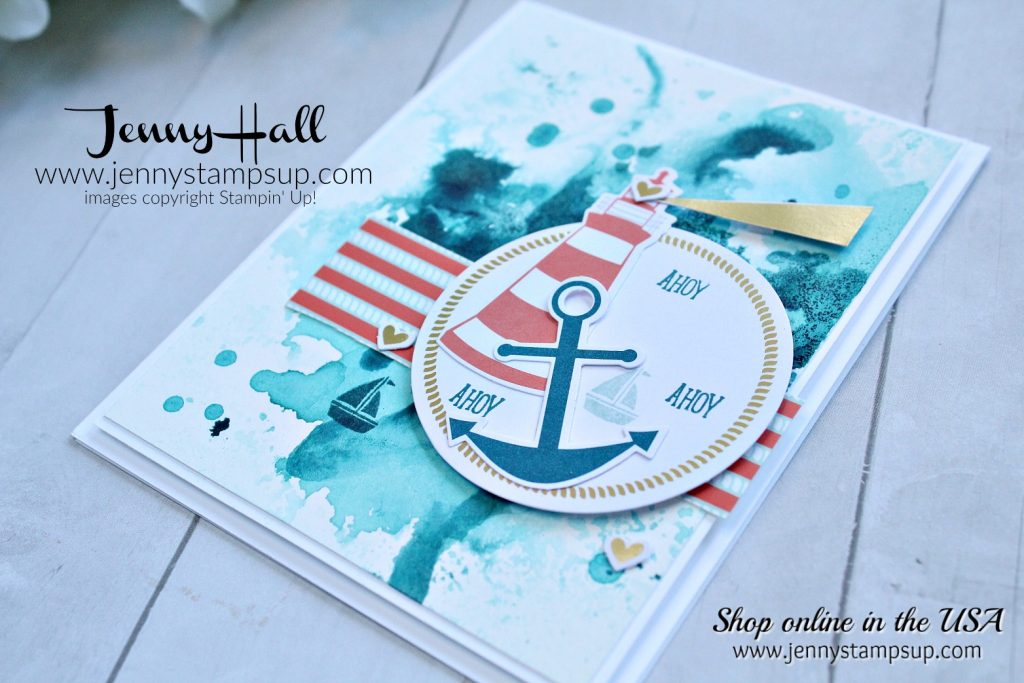 You are my anchor Paper Pumpkin Kit card and project created by Jenny Hall at www.jennyhalldesign.com for #paperpumpkin #paperpumpkinalternatives #cardmakingtutorial #stamping #stampinup #inksmooshing #cardmakingtechnique #roughseas #lighthouse #jennyhall #jennyhalldesign #jennystampsup #lifestyle #crafts #diy #papercrafts #apptbh