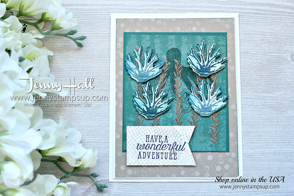 Sea of Textures masculine card created by Jenny Hall at www.jennyhalldesign.com for #cardmaking #rubberstamp #stamping #stampinup #handmadecard #diy #facebooklive #livedemonstration #videotutorial #jennyhall #jennyhalldesign #jennystampsup #jennyhallstampinup #seaoftextures #undertheseaframelits #tranquiltexturessuite #seaoftexturesbundle #crafts #diy #kidfriendlycraft