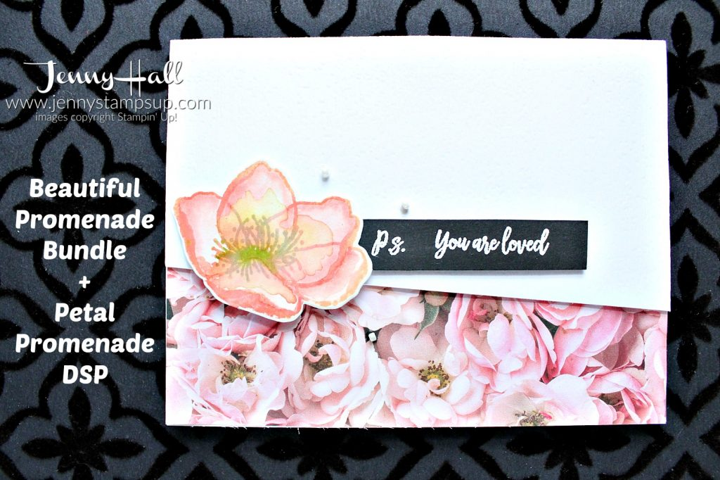 Beautiful Promenade watercolor card created by Jenny Hall at www.jennyhalldesign.com for #cardmaking #beautifulpromenade #watercolorpainting #stamping #stampinup #stamparatus #cascard #cleanandsimplecard #globaldesignproject #floraldesign #jennyhalldesign #jennyhall #jennystampsup #ballerinarose #crafts #diy #craftsforkids #youtuber #videotutorial