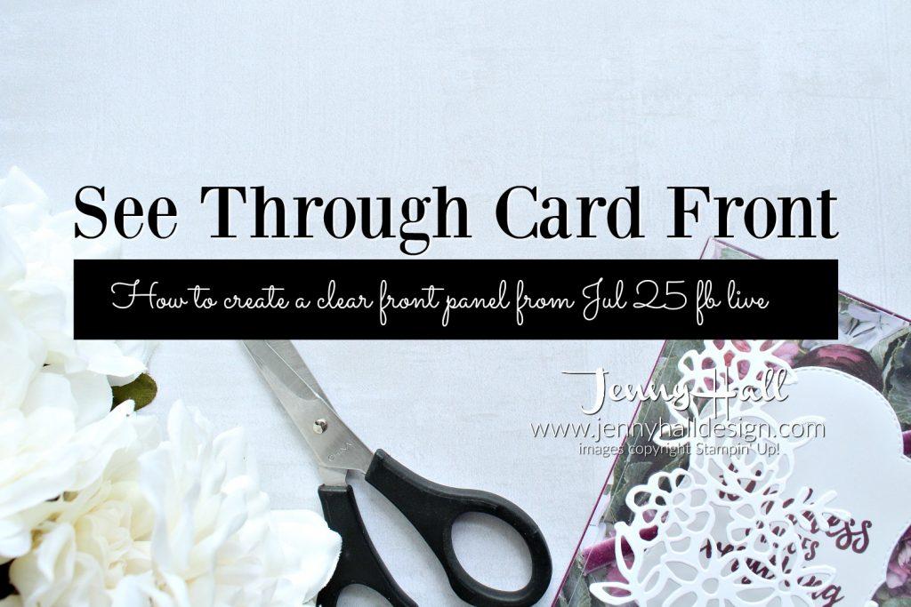 Seethrough card front card by Jenny Hall at www.jennyhalldesign.com for #cardmaking #cardmaker #stamping #stampinup #jennyhall #jennyhalldesign #jennystampsup #jennyhallstampinup #abstractimpressions #windowsheetacetate #stitchedseasonsframelits #sprintimeimpressionsthinlits #crafts #artsandcrafts #hobbies #youtuber #craftyyoutube #create #maker #making #creativelife #diy #stampinup #handmadecard