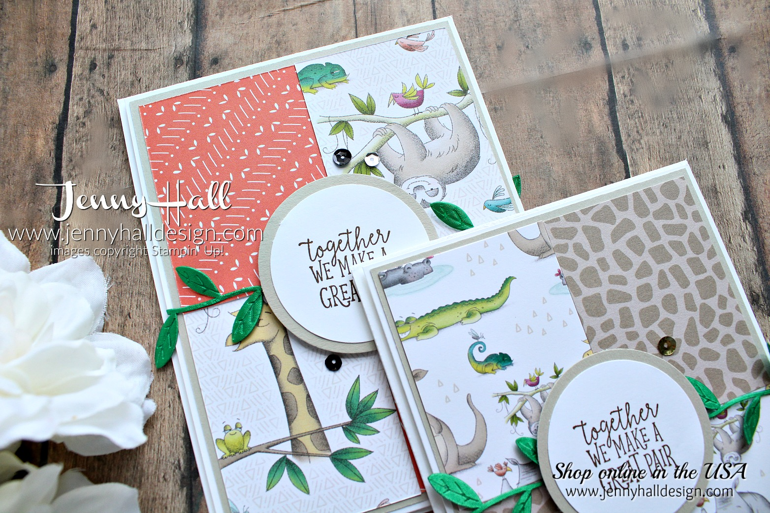 Flipping over DSP cards created by Jenny Hall at www.jennyhalldesign.com for #cardmaking #cardmaker #animalouting #animalexpedition #inspirecreatechallenge #jennyhall #jennyhalldesign #jennystampsup #jennyhallstampinup #stamping #stampinup #videotutorial #youtuber #papercraft #kidscraft #diy #maker
