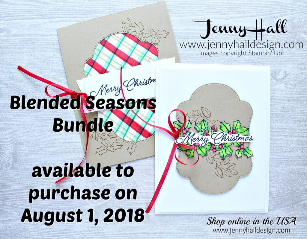 July Ink It Stamp It Blog Hop card featuring Blended Seasons Bundle created by Jenny Hall at www.jennyhalldesign.com for #cardmaking #cardmaker #handmadecard #handcrafted #handicrafts #jennyhall #jennyhalldesign #jennystampsup #blendedseasons #coloryourseason #stamping #stampinup #papercraft #lifestyle #crafts #craftsforkids #plaid #diyplaid #stampinblendsmarkers #watercolorpencilsassortment2 #watercolorpencils #blenderpen #makeacardsendacard #christmasdiy #christmascard