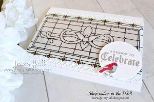 Could be a Christmas card by Jenny Hall at www.jennyhalldesign.com for #cardmaking #cardmaker #stamping #stampinup #stampinupdemonstrator #onlinedemonstrator #paintedglass #gracefulglassvellum #papercraft #hobbies #maker #diy #crafts #artsandcrafts #kidscrafts #vellum #jennyhall #jennyhalldesign #jennystampsup #jennyhallstampinup