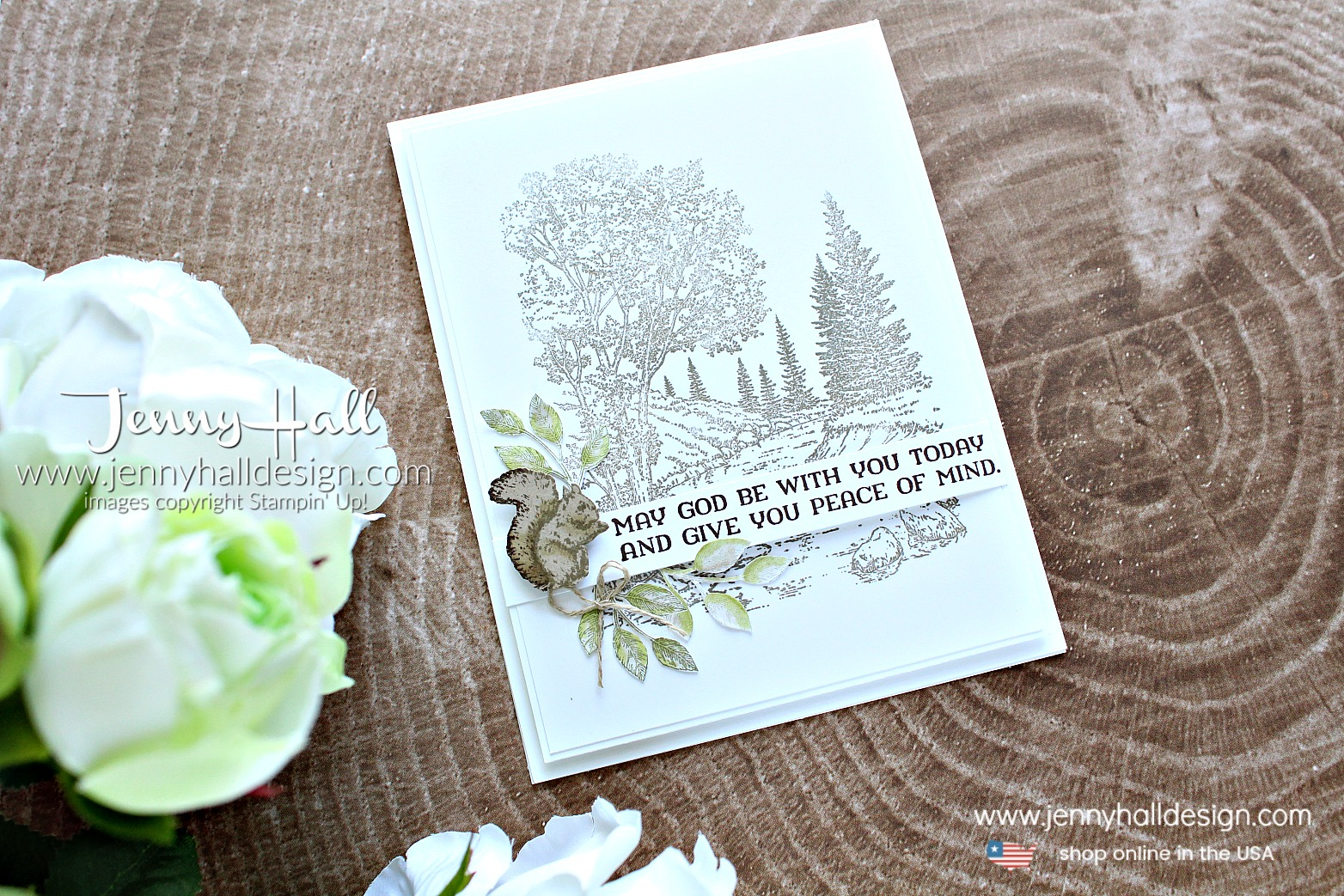 Peaceful Place support card created by Jenny Hall at www.jennyhalldesign.com for #cardmaking #cardmaker #stamping #stampinup #peacefulplace #squirrelstamp #supportgreetingcard #jennyhall #jennyhalldesign #jennystampsup #neutraltones #cardmakingtechniques #crafts #craftsforkids #diy #papercraft #lifestyle #papercraft #backgroundstamp