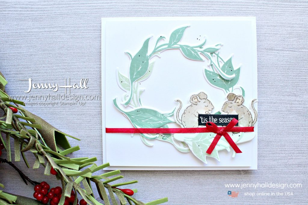 Sweet Christmas card created by Jenny Hall at www.jennystampsup.com for #cardmaking #cardmaker #stampinup #stamping #sweetstorybook #christmascard #diychristmas #handmadecard #jennyhall #jennyhalldesign #jennystampsup #videotutorial #youtuber #stampinkpaperchallenge #sipchallenge #videotutorial #housemouse
