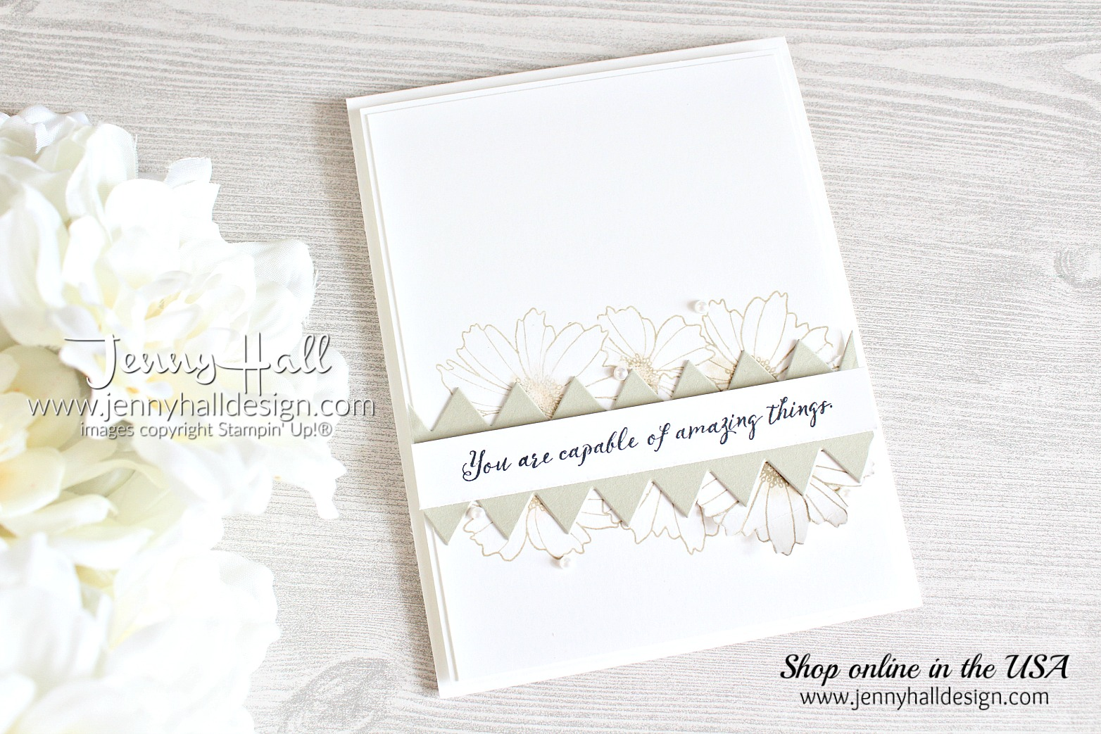 Cardmaking with paper scraps card created by Jenny Hall at www.jennyhalldesign.com for #cardmaking #cardmaker #betterwithyou #playfulpennantsframelits #jennyhall #jennyhalldesign #jennystampsup #cascards #cleanandsimplecards #stampinkpaperchallenge #papercraft #crafts #artsandcrafts