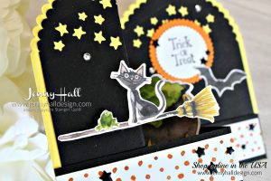 Cauldron Bubble Double Z Fold Box Card created by Jenny Hall at www.jennyhalldesign.com for #cardmaking #handmadecard #doublezfold #fancyfold #addinktivedesigns #addinktivedesignsteam #stamping #stampinup #jennyhall #jennyhalldesign #jennystampsup #cauldronbubble #toilandtroubledsp #halloweencard #halloweendiy #papercraft #artsandcrafts #artteacher #kidscrafts #maker #youtuber