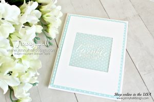 Easy DIY baby card created by Jenny Hall at www.jennyhalldesign.com for #cardmaking #handmadecard #diy #papercraft #easybaby #babycard #littletwinkle #twinkletwinkledsp #vellum #jennyhall #jennyhalldesign #jennystampsup #stamping #stampinup #sipchallenge #lifestyle #babygift #youtuber