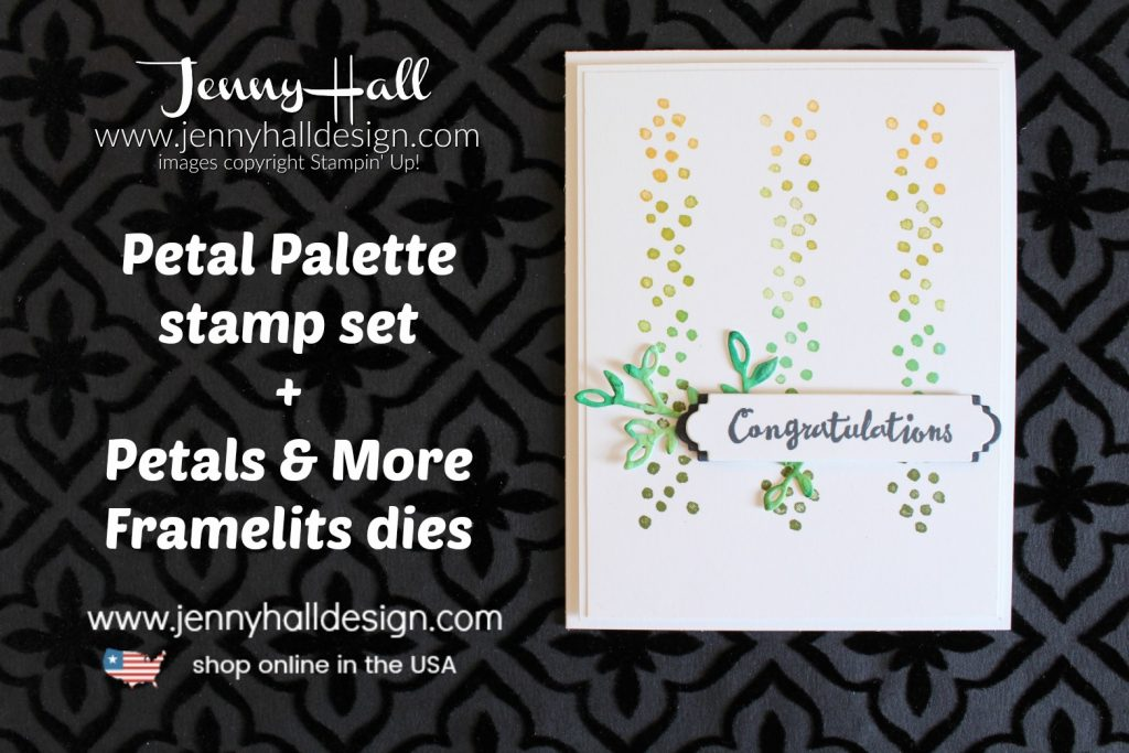 How to build a masculine card with Petal Palette stamps created by Jenny Hall at www.jennyhalldesign.com for #cardmaking #cardmaker #handmadecard #create #creator #youtuber #stamper #stampinup #globaldesignproject #cascards #cleanandsimplecards #stamparatus #masculinecard #earthtones #papercraft #diy #artsandcrafts #crafts #craftsforkids #jennyhall #jennyhalldesign #jennystampsup #jennyhallstampinup #petalpalette #petalsandmoreframelitsdies #happylittletree #art #ombre