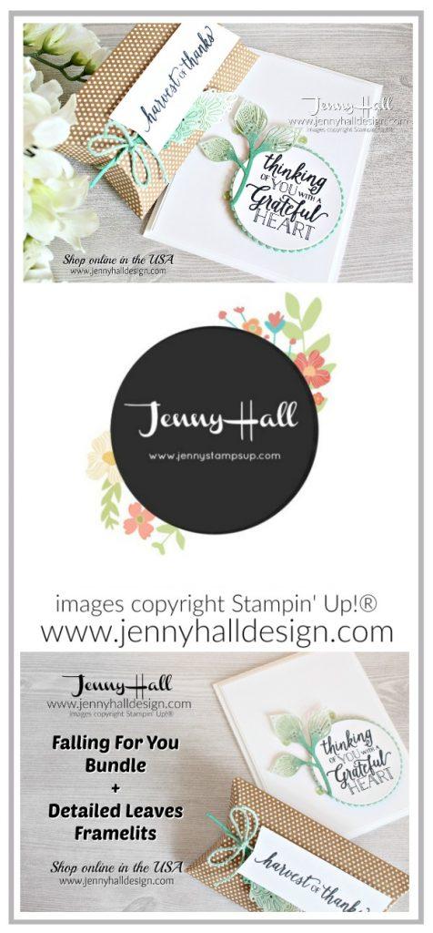 Falling For Leaves ombre card created for OSAT BLog Hop by Jenny Hall at www.jennyhalldesign.com for #cardmaking #cardmaker #artsandcrafts #fallingforleaves #detailedleavesthinlits #stampinblendsmarkers #thanksgiving #stamping #stampinup #jennyhall #jennyhalldesign #jennystampsup #diy #ombre #coloring #papercrafts
