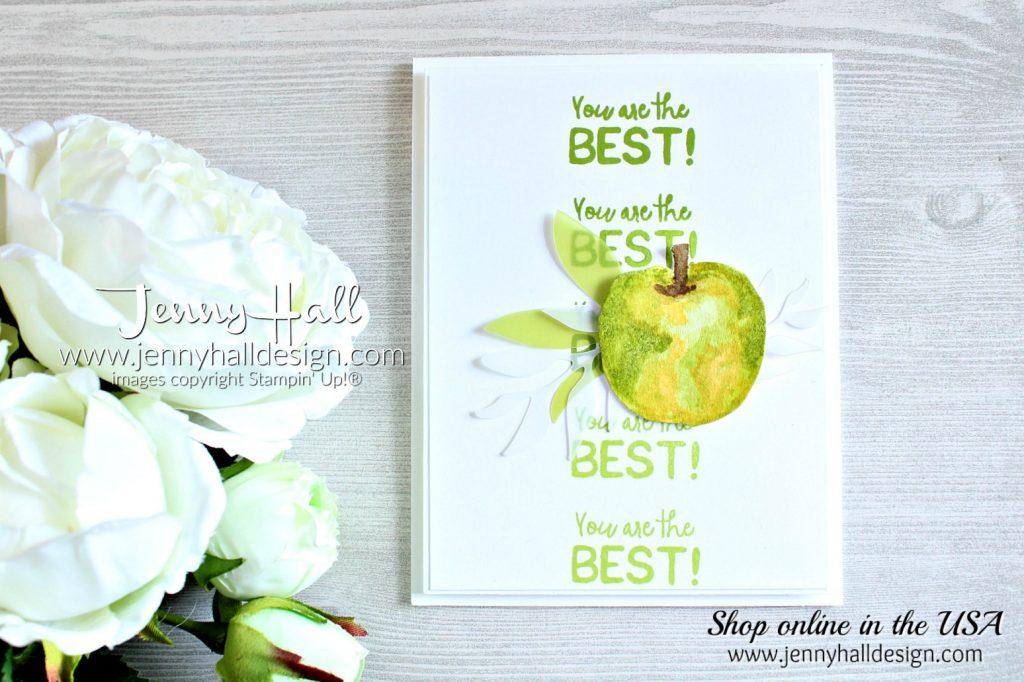 Picked For You Watercolor created by Jenny Hall at www.jennyhalldesign.com for #cardmaking #cardmaker #pickedforyou #watercolor #watercoloring #teachercard #teachergift #stamparatus #stampinup #stamping #artsandcrafts #hobbies #craftsforkids #kidscrafts #papercrafts #lifestyle #diy #wwyschallenge
